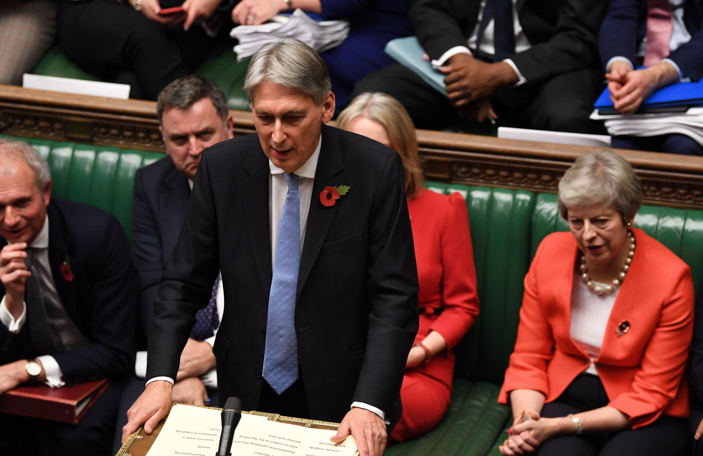 Chancellor Philip Hammond has come out of hiding for long enough to woo his party's core voters