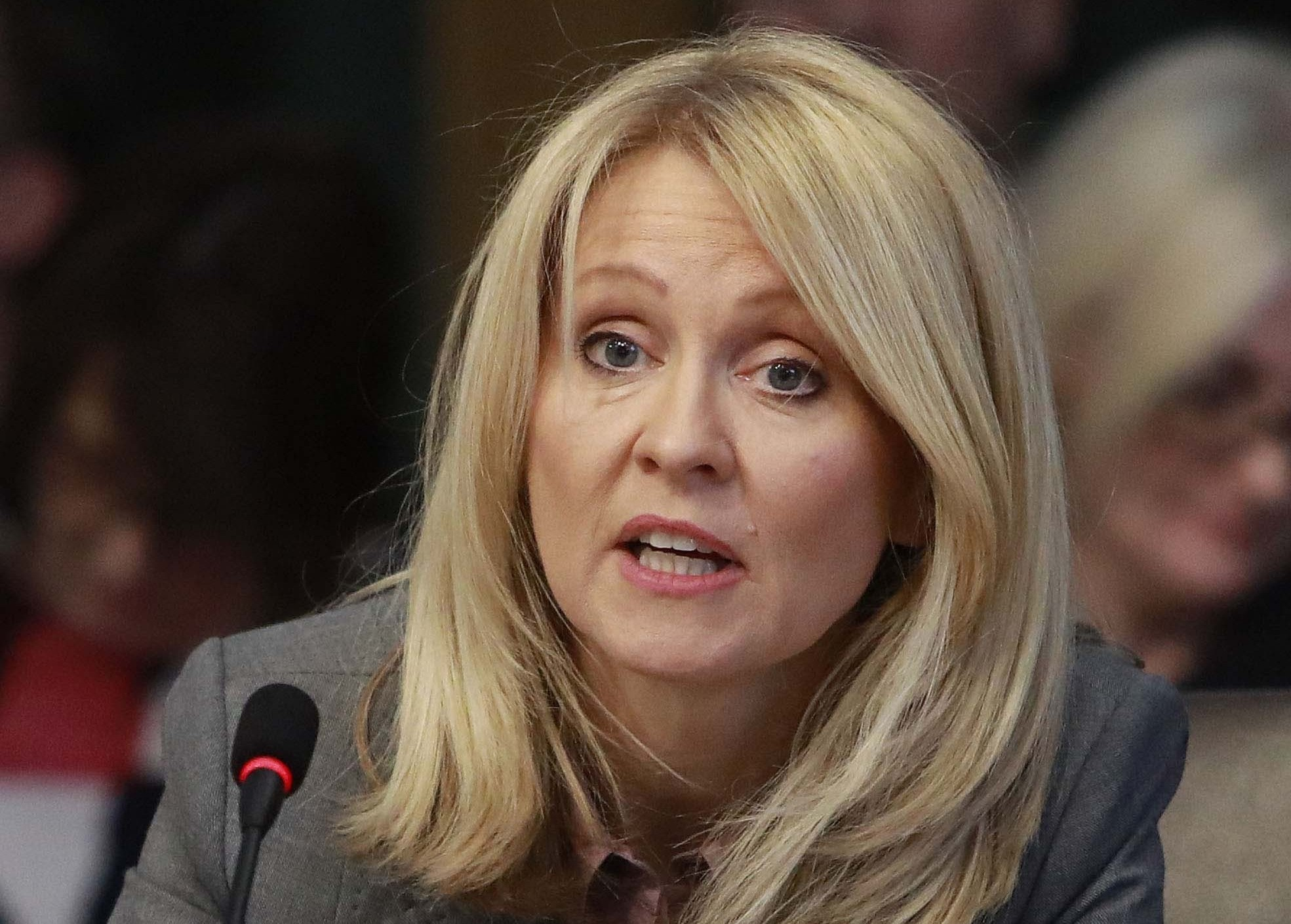 Esther McVeyhas been accused of not declare her link on the Members Financial Interest Register in Parliament