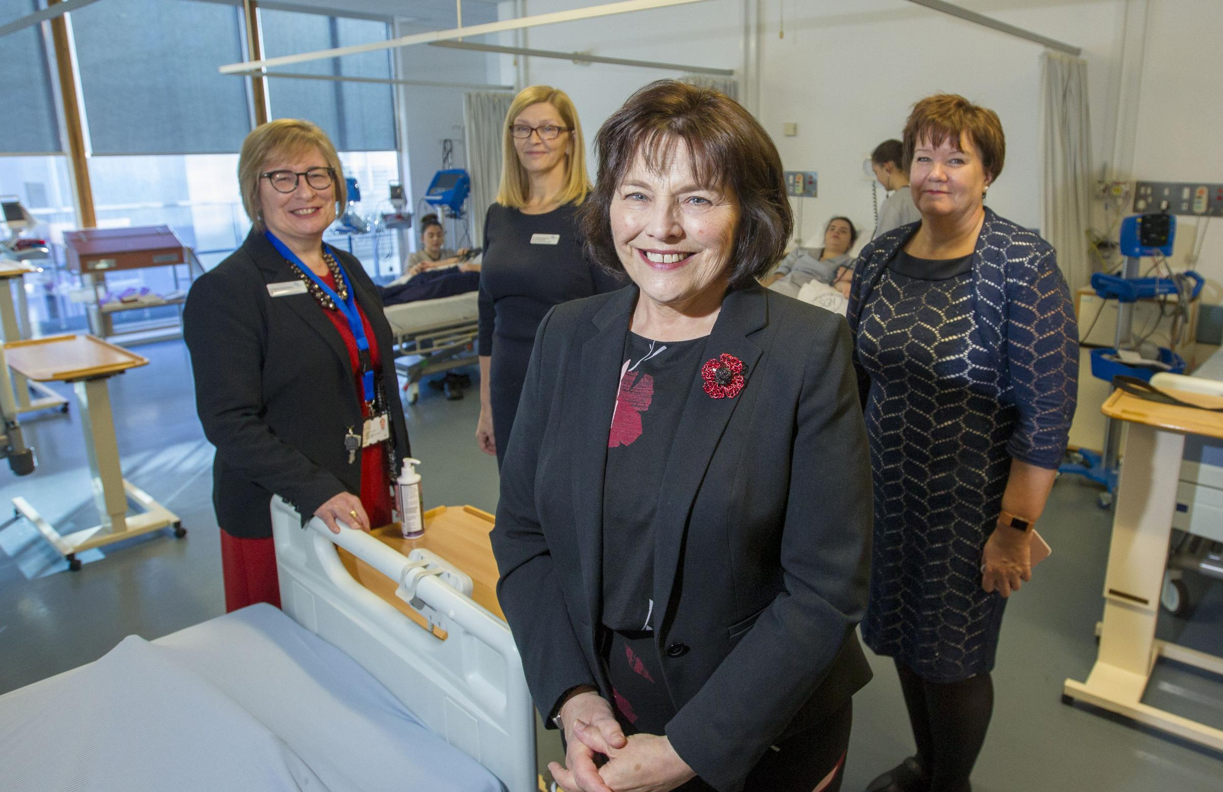 Health Secretary Jeane Freeman announced the staff boost during a visit to training hub Glasgow Caledonian University