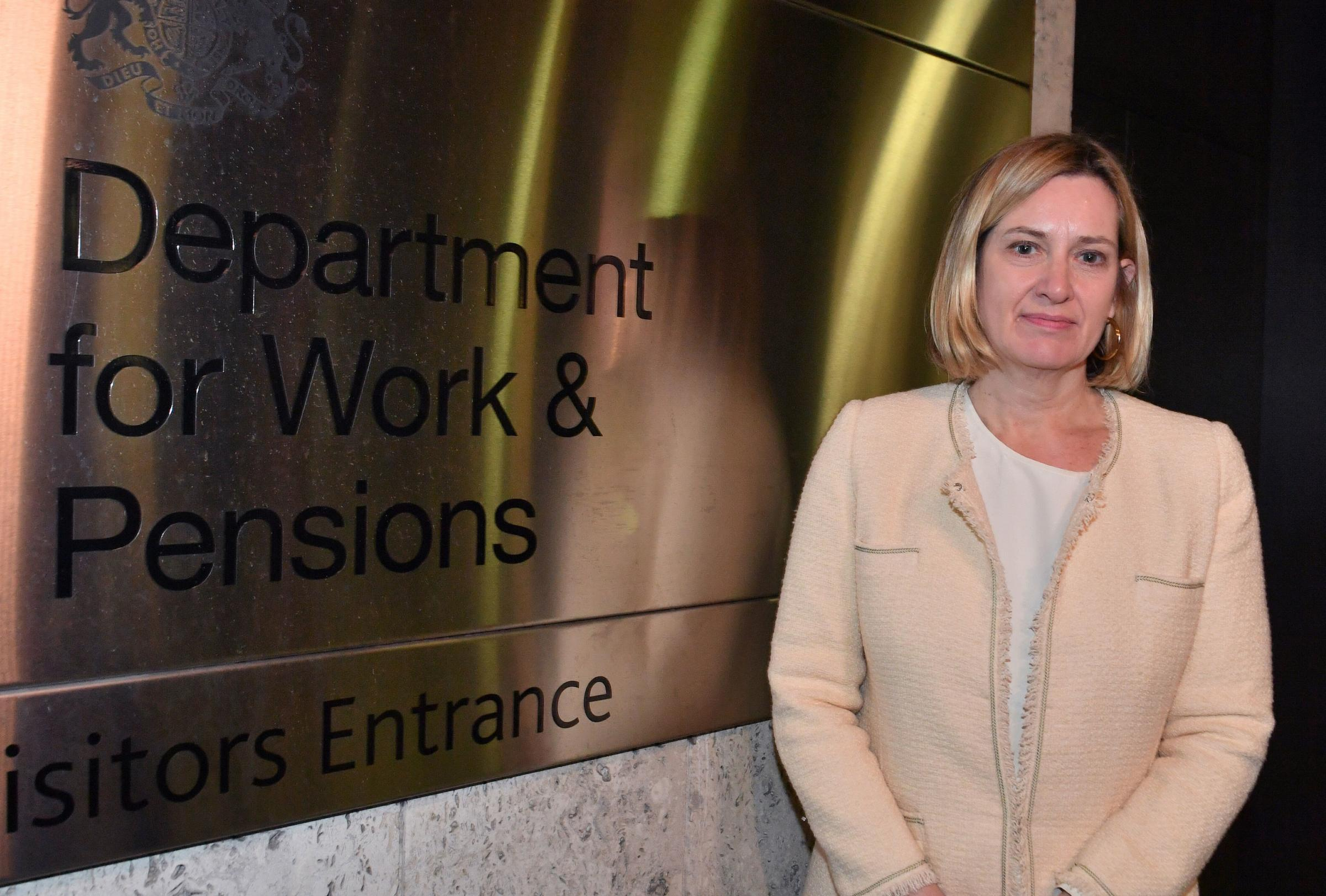 Amber Rudd began as the Work and Pensions Secretary in November