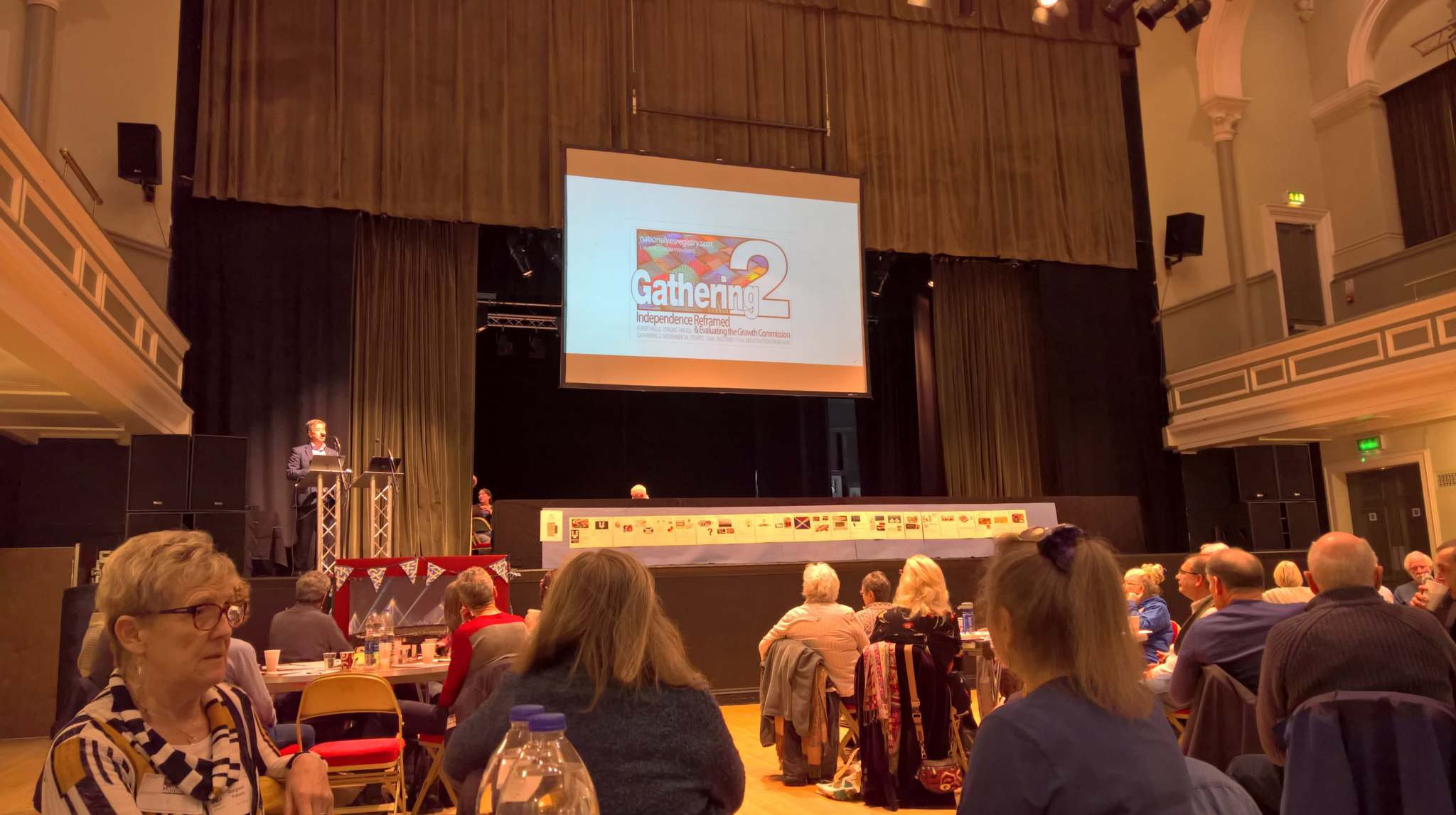 The Gathering 2, held in Stirling's Albert Halls, was yet another reminder of the flurry of activity taking place within the Yes movement at the moment. Photograph: Ruth Watson