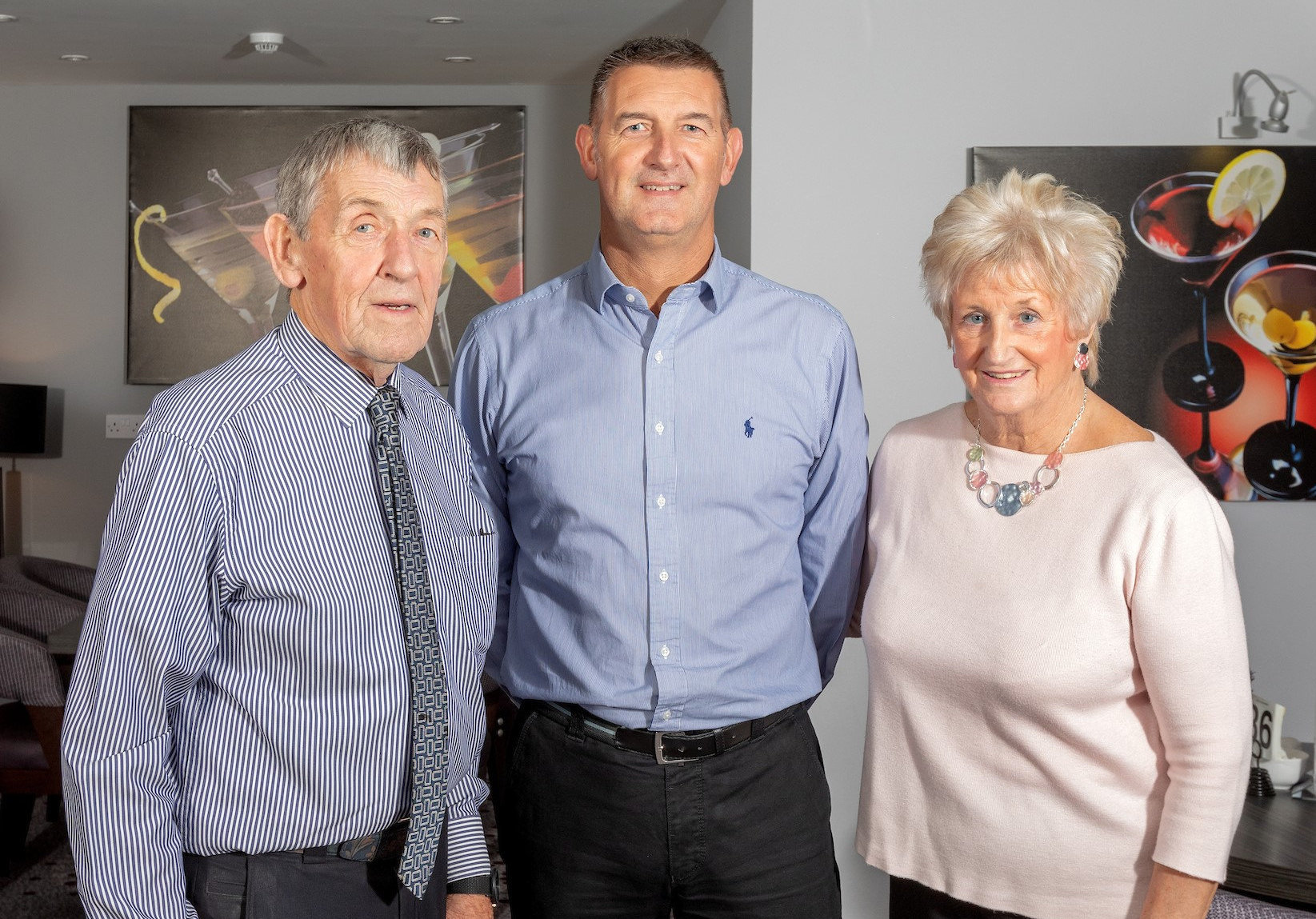 Founder Stuart Hutton, Managing Director Kenny Hutton and Director Eveline Hutton.