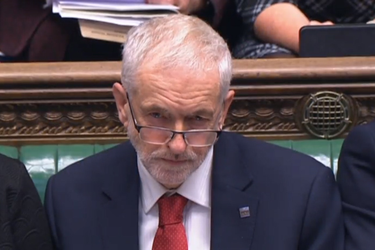 Labour leader Jeremy Corbyn appears to mouth 'stupid woman' in the video