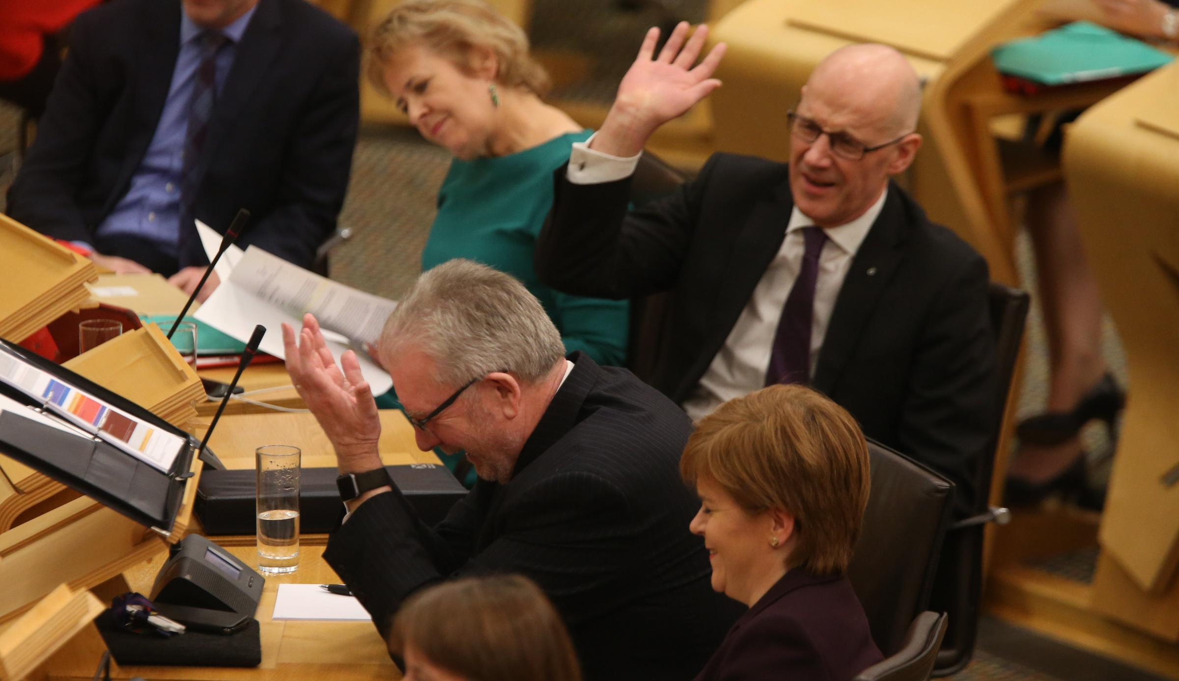 SNP politicians couldn't withhold their laughter