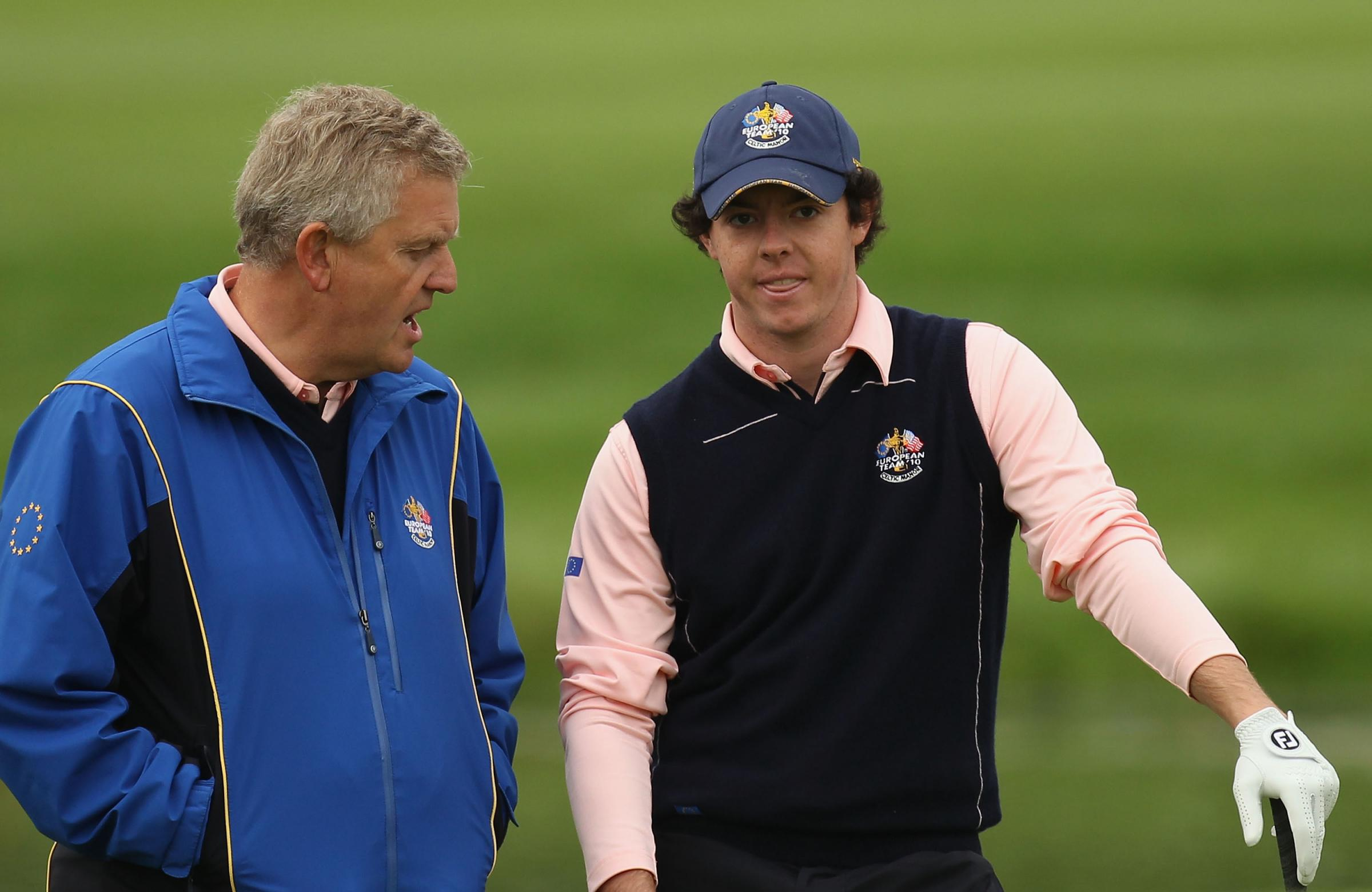 Colin Montgomerie and Rory McIlroy
