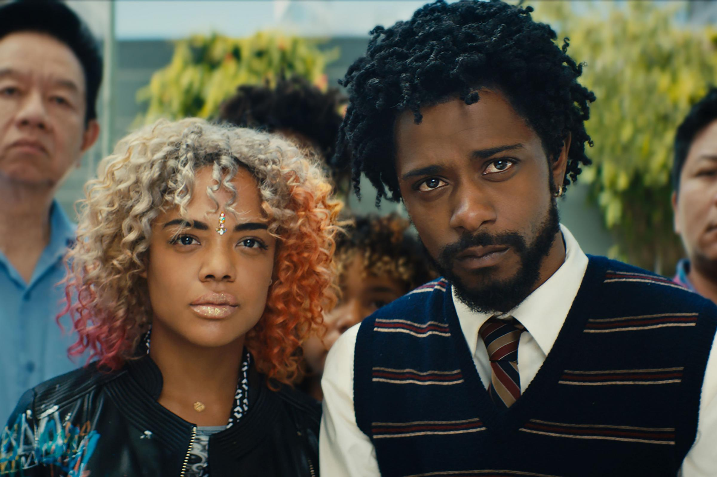 Cassius (Lakeith Stanfield) goes to dangerous lengths to impress girlfriend Detroit (Tessa Thomson)