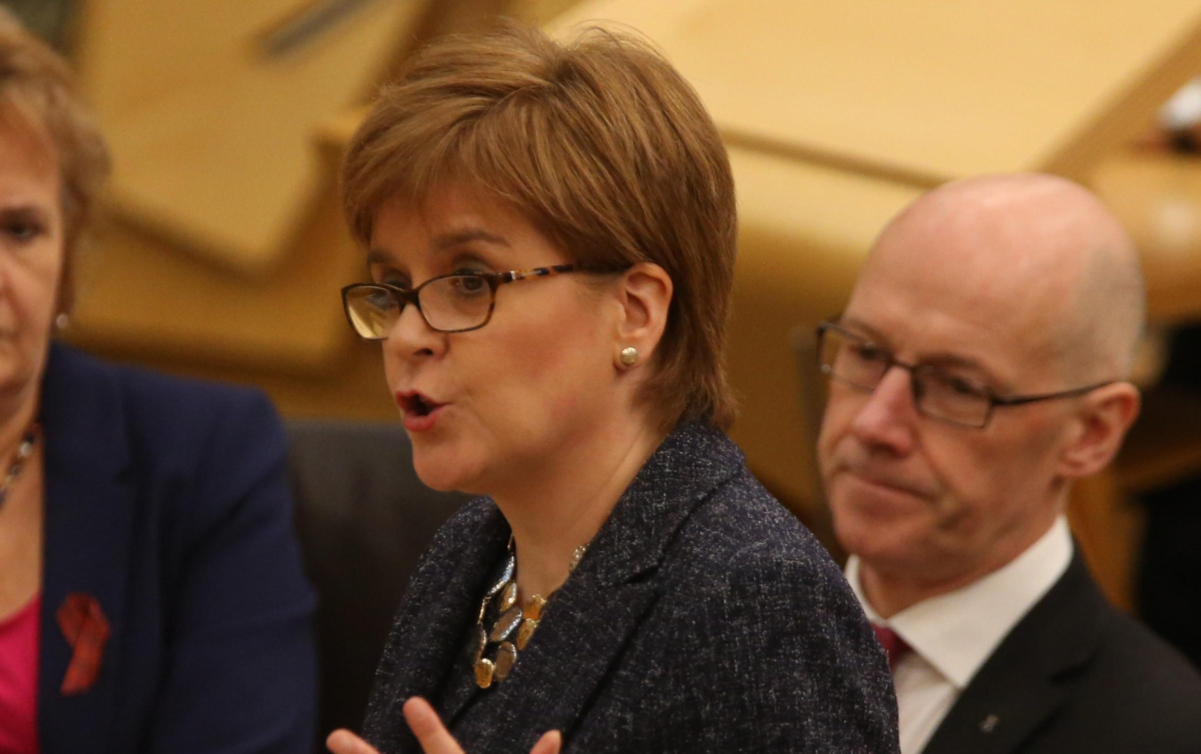The First Minister pointed out the overall number of additional support needs staff has increased