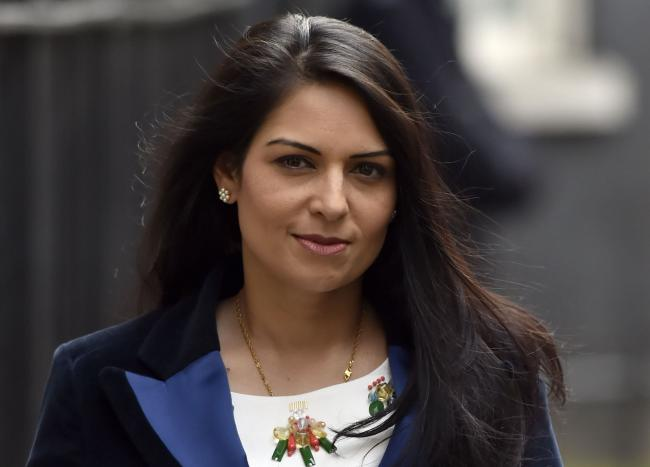 Conservative Priti Patel has been slammed for her 'sheer moral bankruptcy'