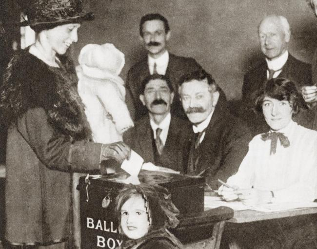 British women voted for the first time in the 1918 General Election
