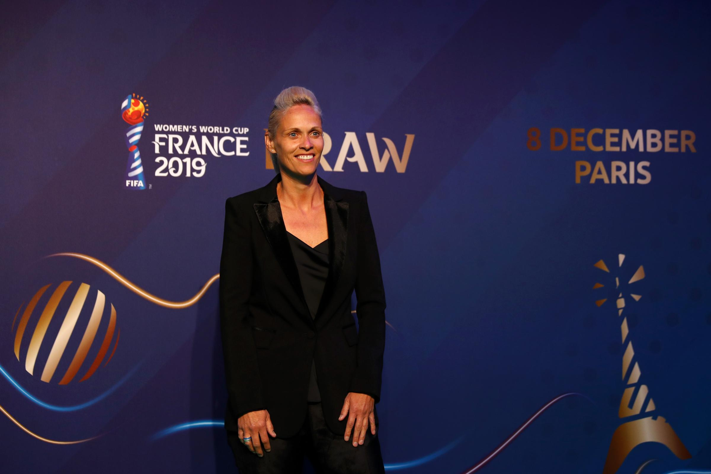 Scotland coach Shelley Kerr arrives for the World Cup draw