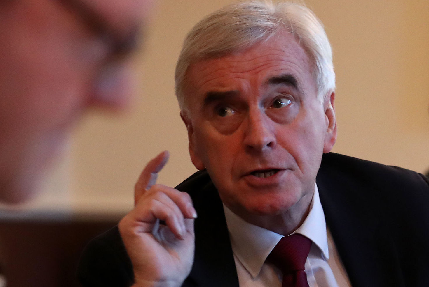 Shadow chancellor John McDonnell says he wants a 'united country'