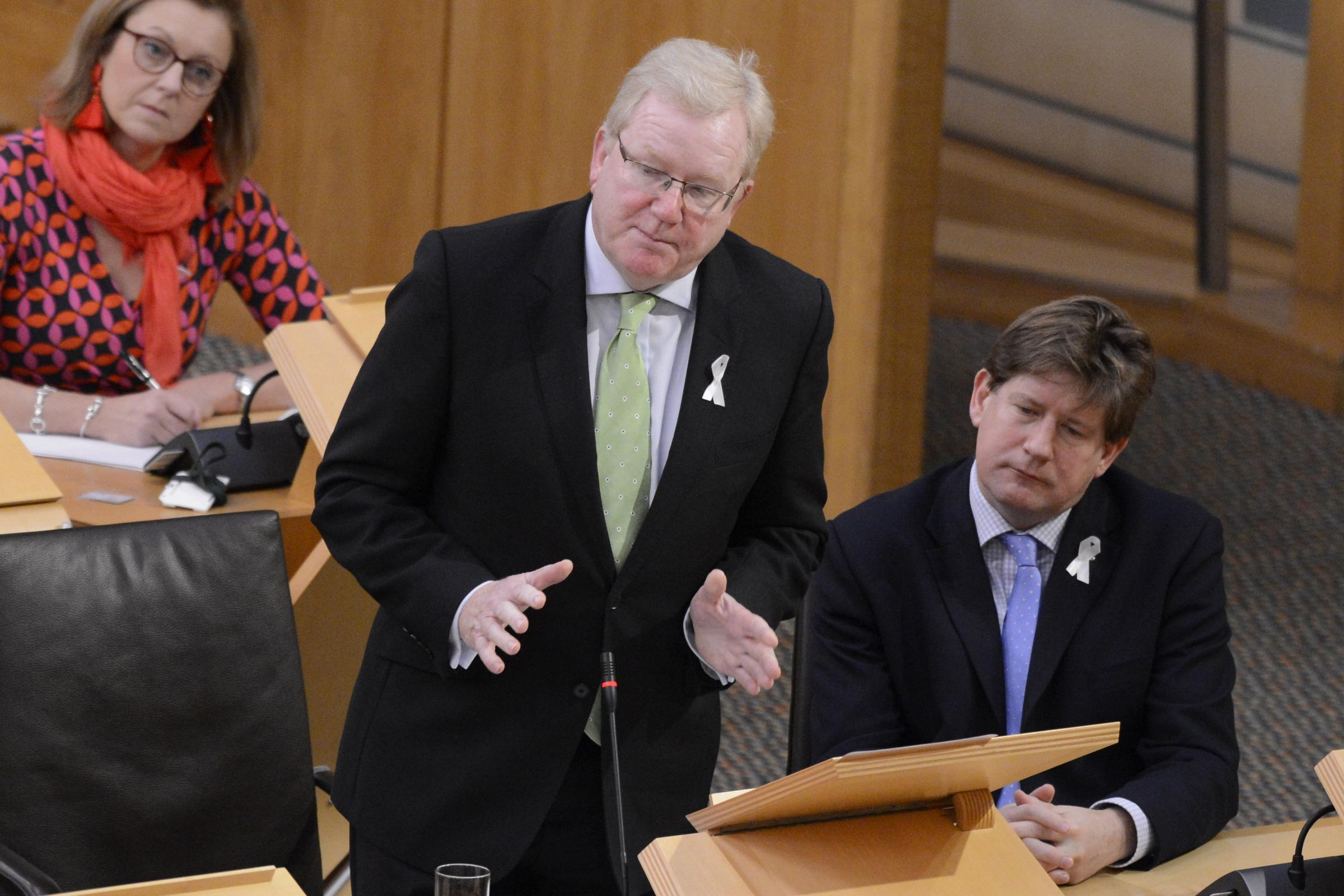 Jackson Carlaw is currently standing in as Scottish Conservative leader