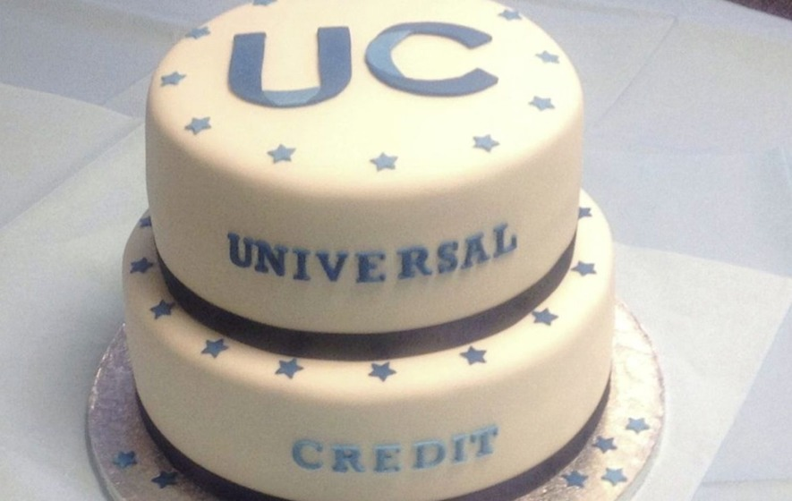A Universal Credit cake for Hove in England, which also caused controversy. It's believed the Northern Ireland cakes were similar to this one.