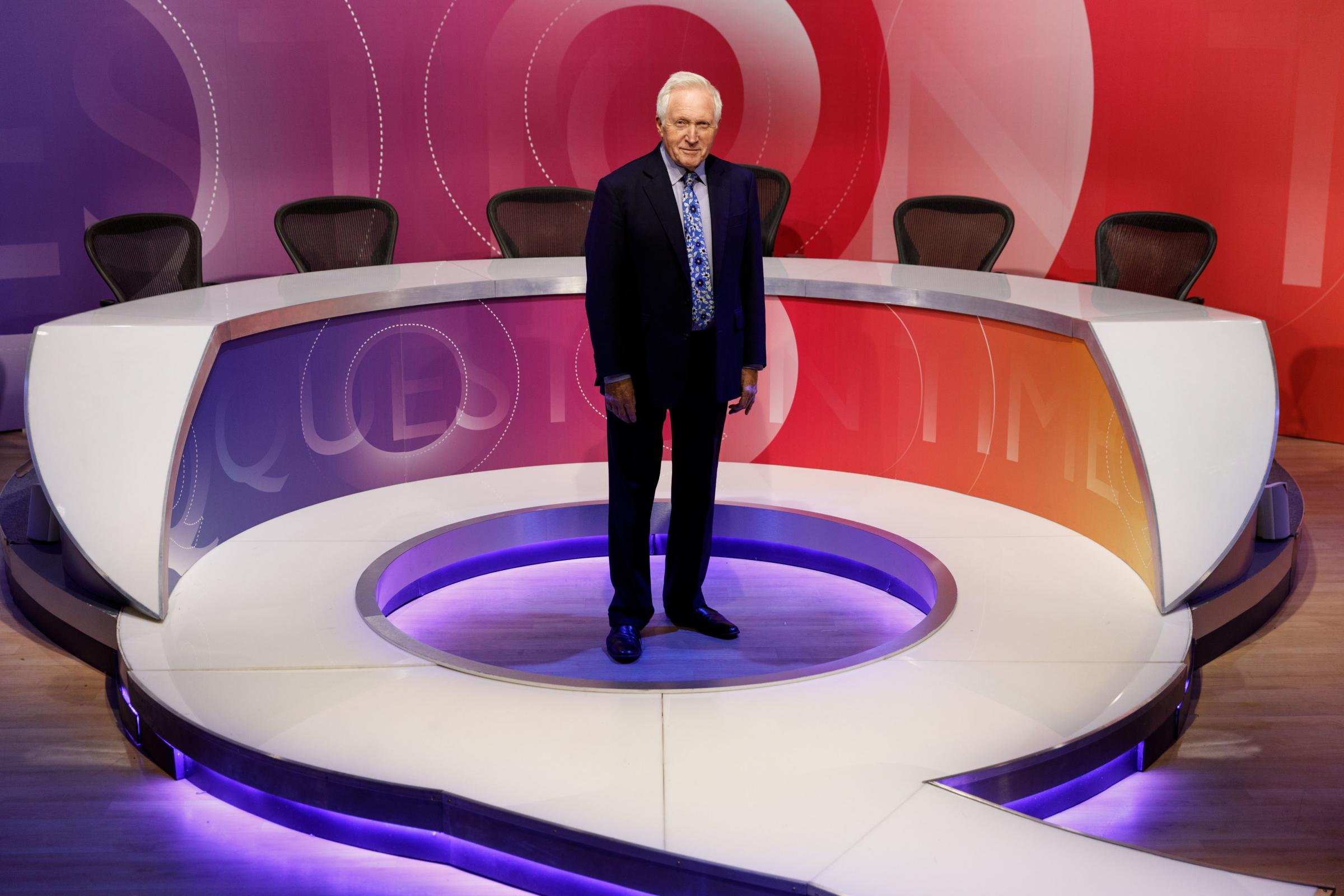 This will be David Dimbleby's final outing as BBC Question Time host