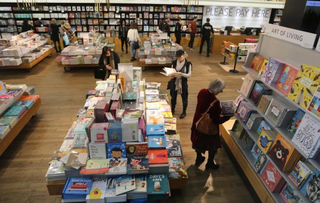 The trade press notes that physical sales through actual bookshops are increasing