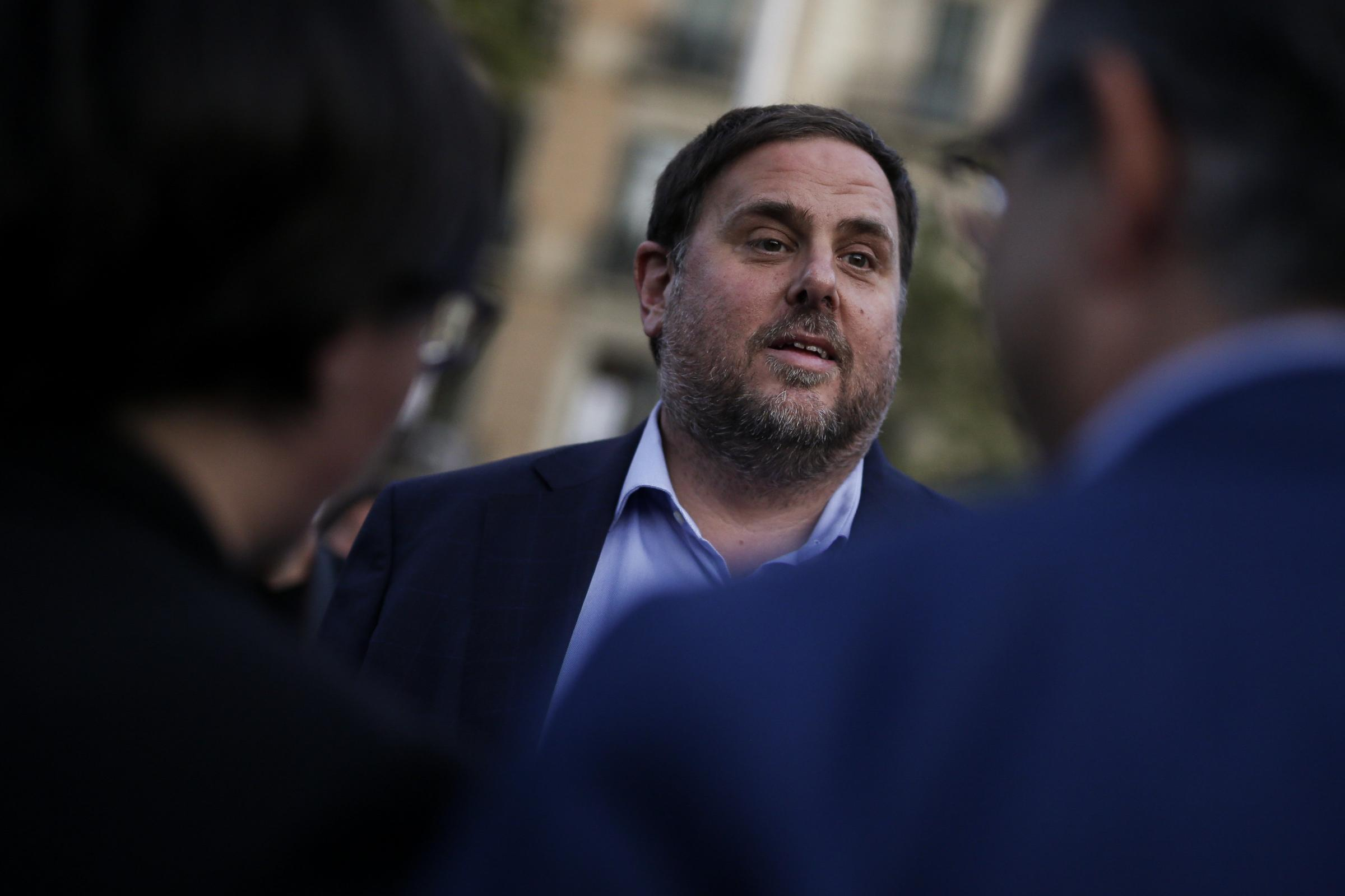 Oriol Junqueras leads the pro-independence Republican Left of Catalonia