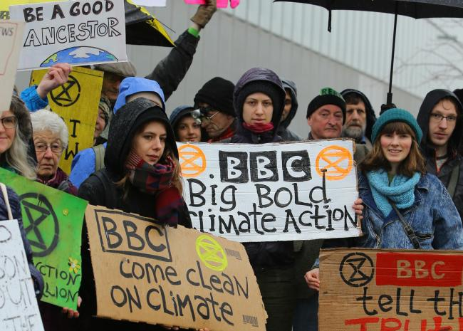 Last week, climate change activists held demonstrations outside Pacific Quay