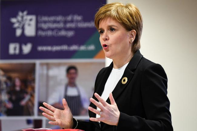 The First Minister reacted to an overwhelming defeat for the Tories