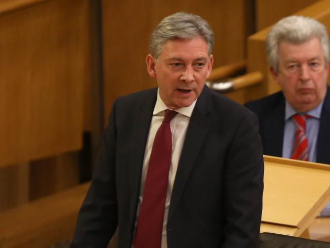 Around a quarter of votes for Richard Leonard's party could go to the SNP. Photograph: Gordon Terris