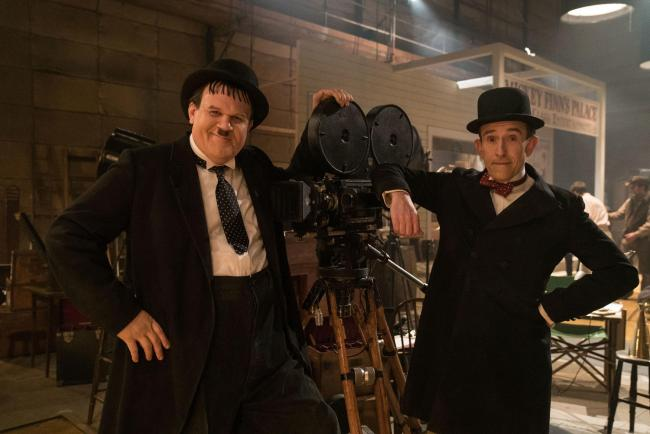 John C Reilly, left, and Steve Coogan star as Laurel and Hardy in the new biopic