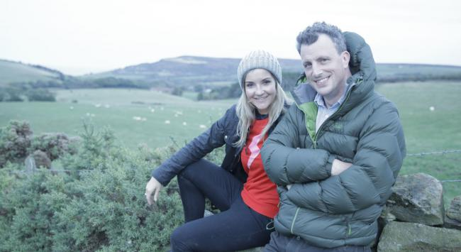 Helen Skelton and Alex Langland in Digging Up Britain