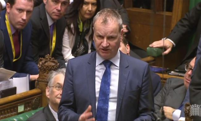 Pete Wishart made the devolution demands amid fiery exchanges in the Commons