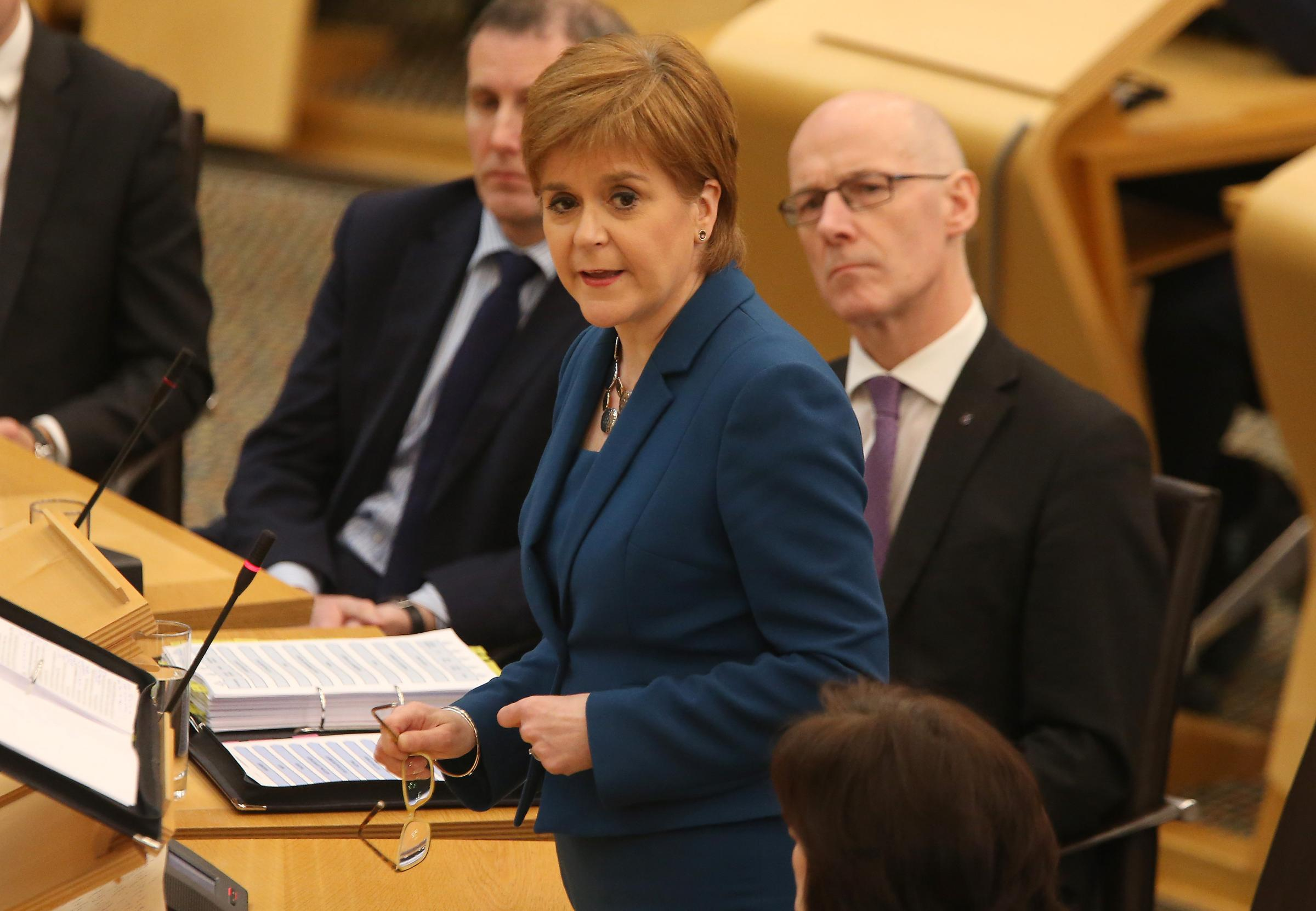 Nicola Sturgeon was speaking during First Minister's Questions. Photograph: Gordon Terris