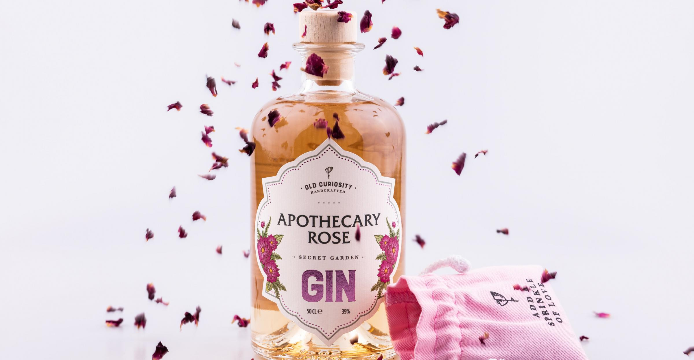 The gin boasts colour-changing properties