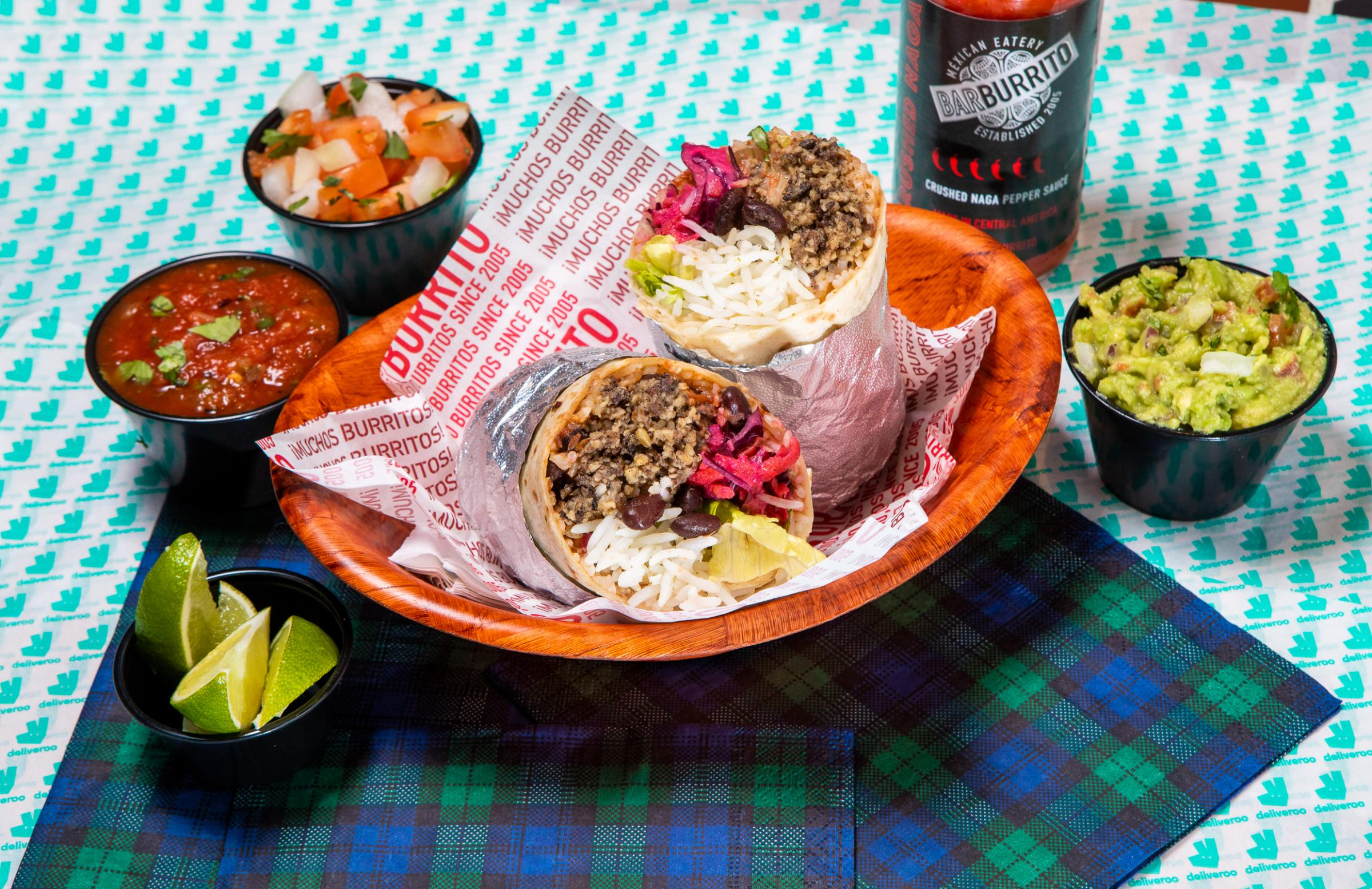 The burrito uses Macswean haggis and costs £8.45
