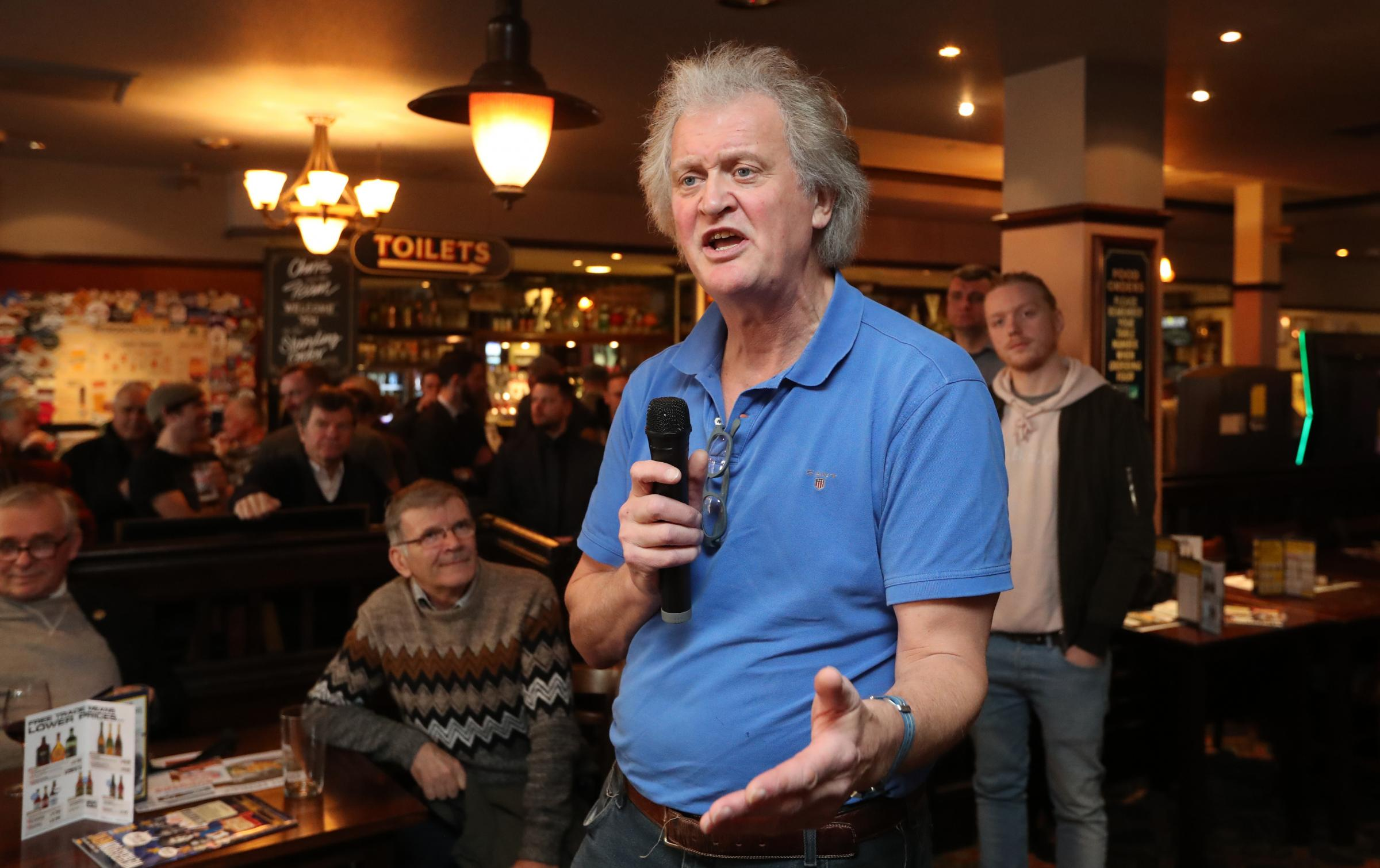 Tim Martin said that it was 'bollocks' to link a £40 million hit in additional costs in its half-year profits to consumer fears over Brexit