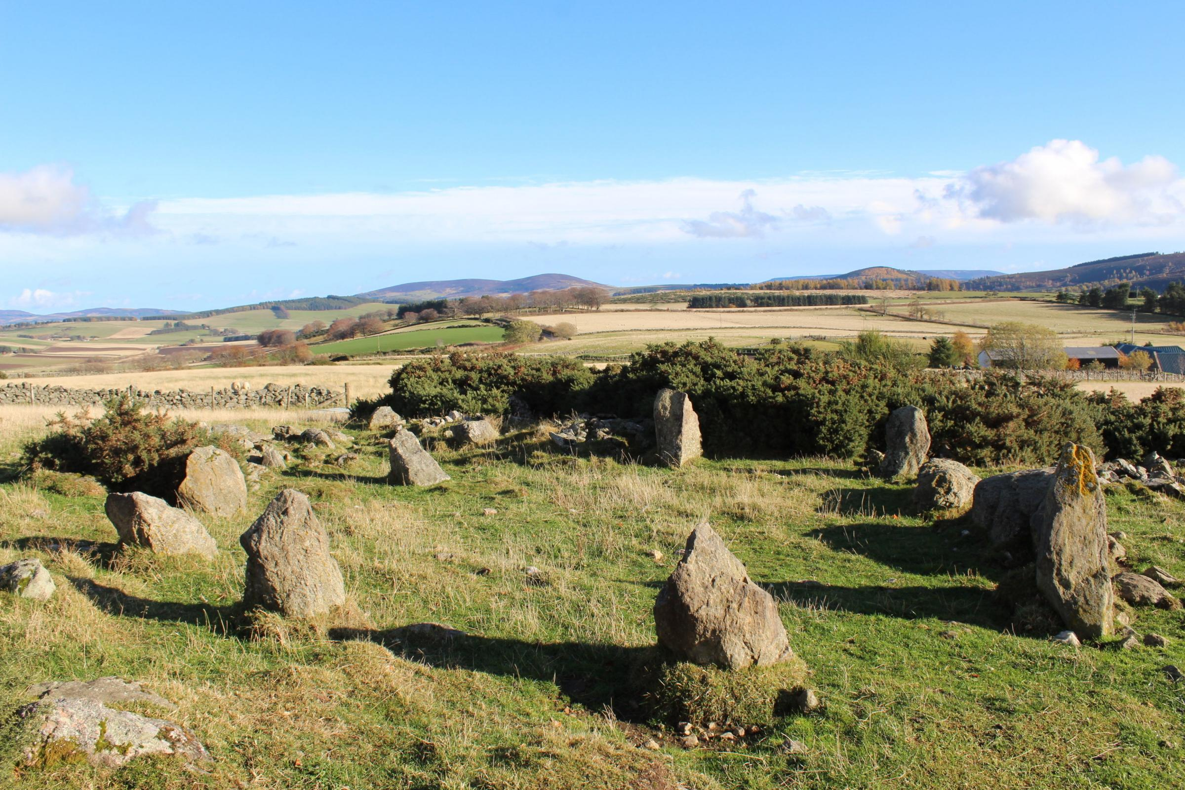 The stone circle discovered in Aberdeenshire