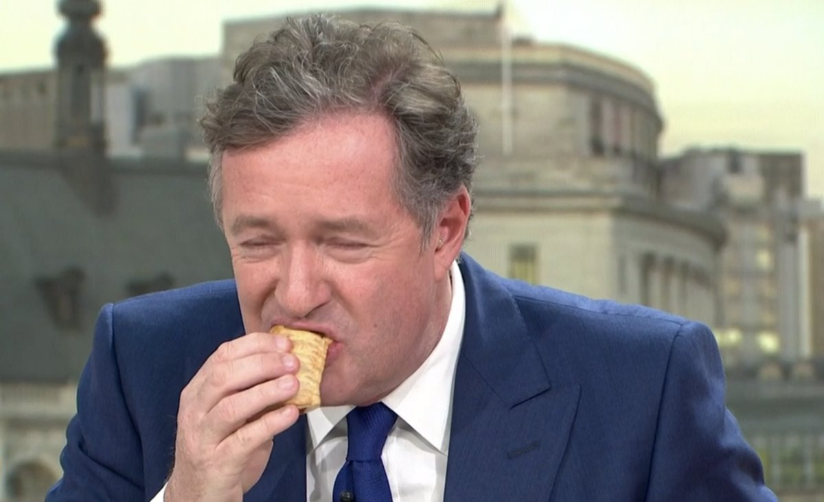 Piers Morgan recently got offended by a vegan sausage roll ... you don't have to eat it Piers!