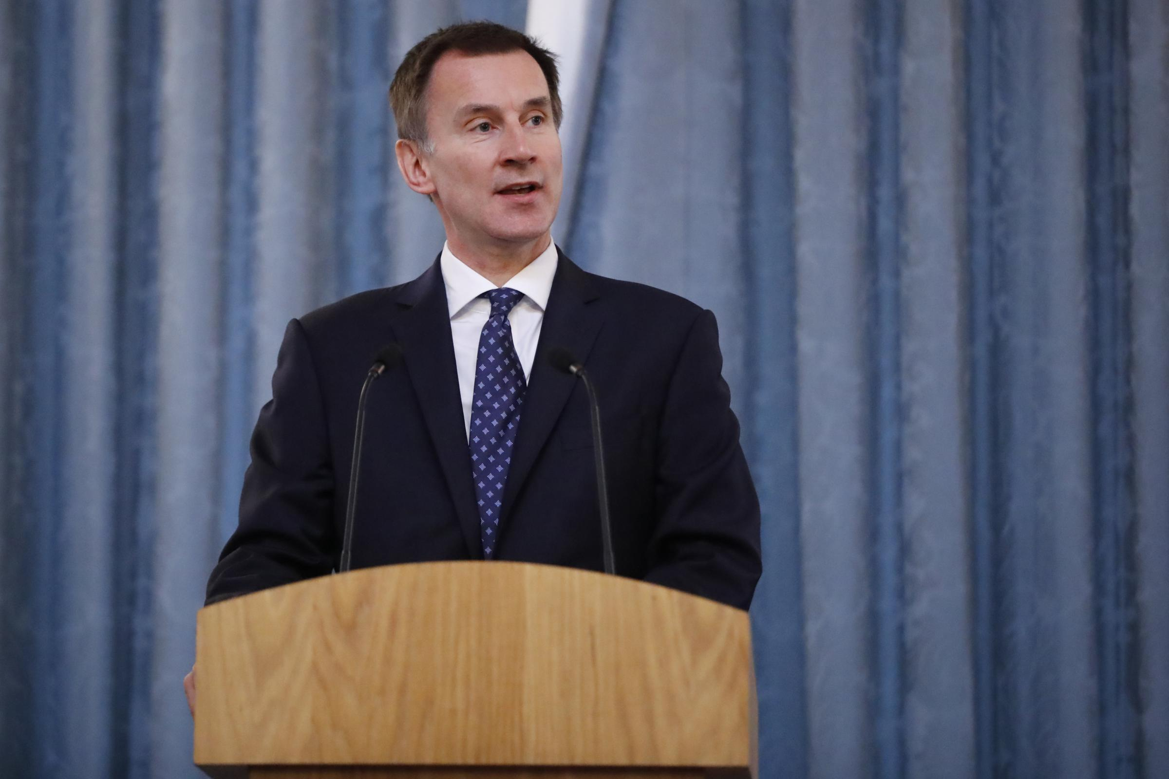 Foreign Secretary Jeremy Hunt said 'extra time' may be required