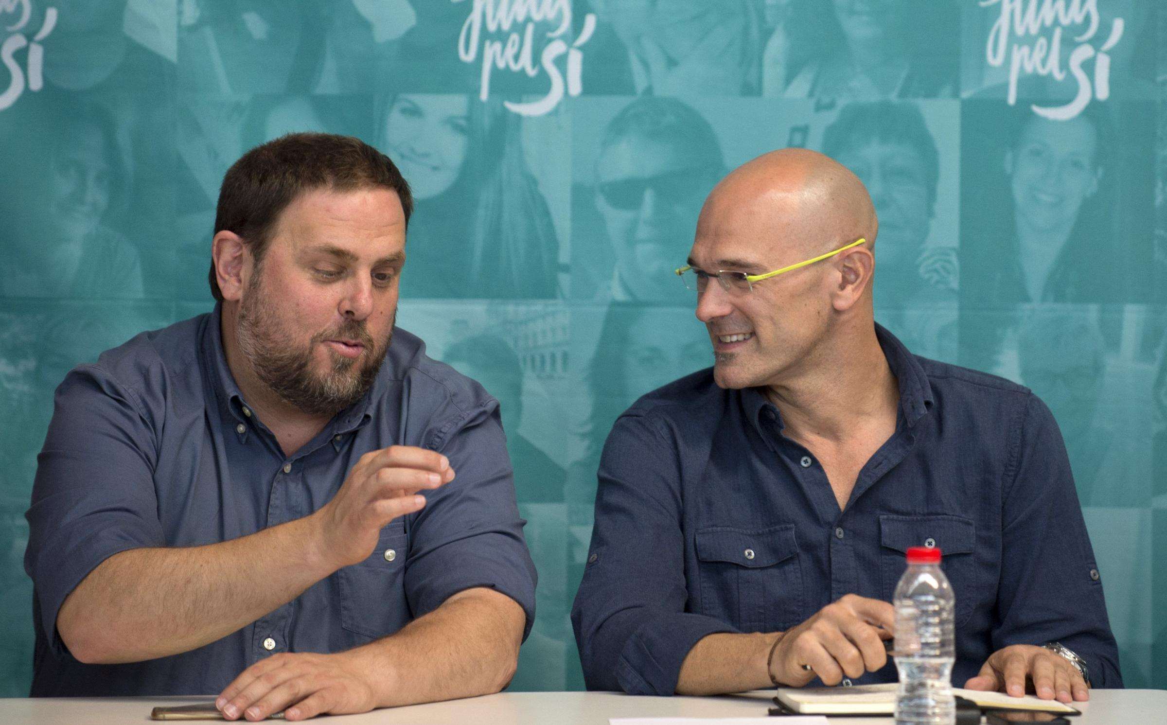 The lawyer representing Oriol Junqueras (left) and Raul Romeva said they were ready to face a Spanish court