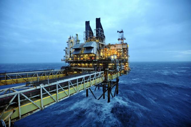 A view of part of the BP Etap platform in the North Sea, around 100 miles east of Aberdeen, Scotland