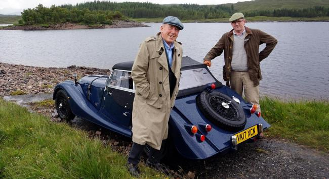 Christopher Timothy and Peter Davison revisit the golden age of motoring
