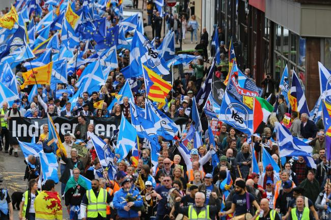 The All Under One Banner marches have sent a clear message about how strong Scotland's Yes movement is. Photograph: Colin Mearns
