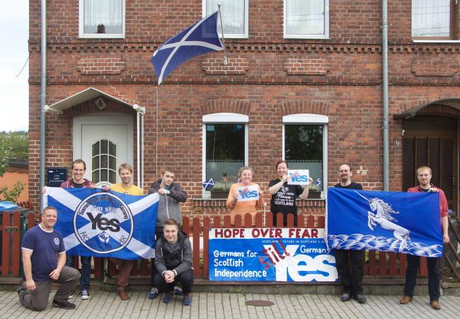 germans for scottish independence to march ahead of brexit  the  the germans for scottish independence event takes place on march