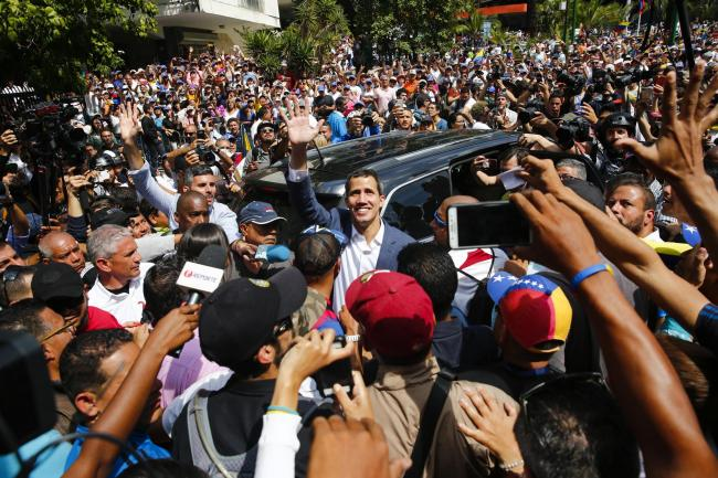 The self-proclaimed interim president of Venezuela, Juan Guaido, did not stand for election