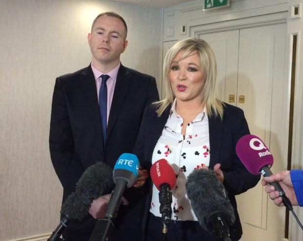 The National: Sinn Fein deputy leader Michelle O'Neill hit out at the PM