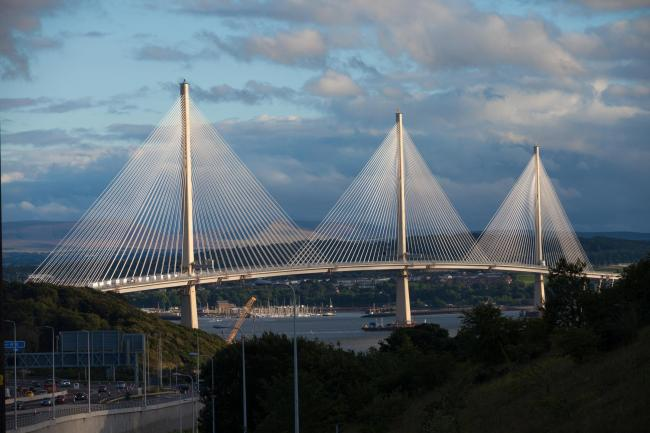 The Queensferry Crossing is the world's longest three-towered, cable-stayed bridge