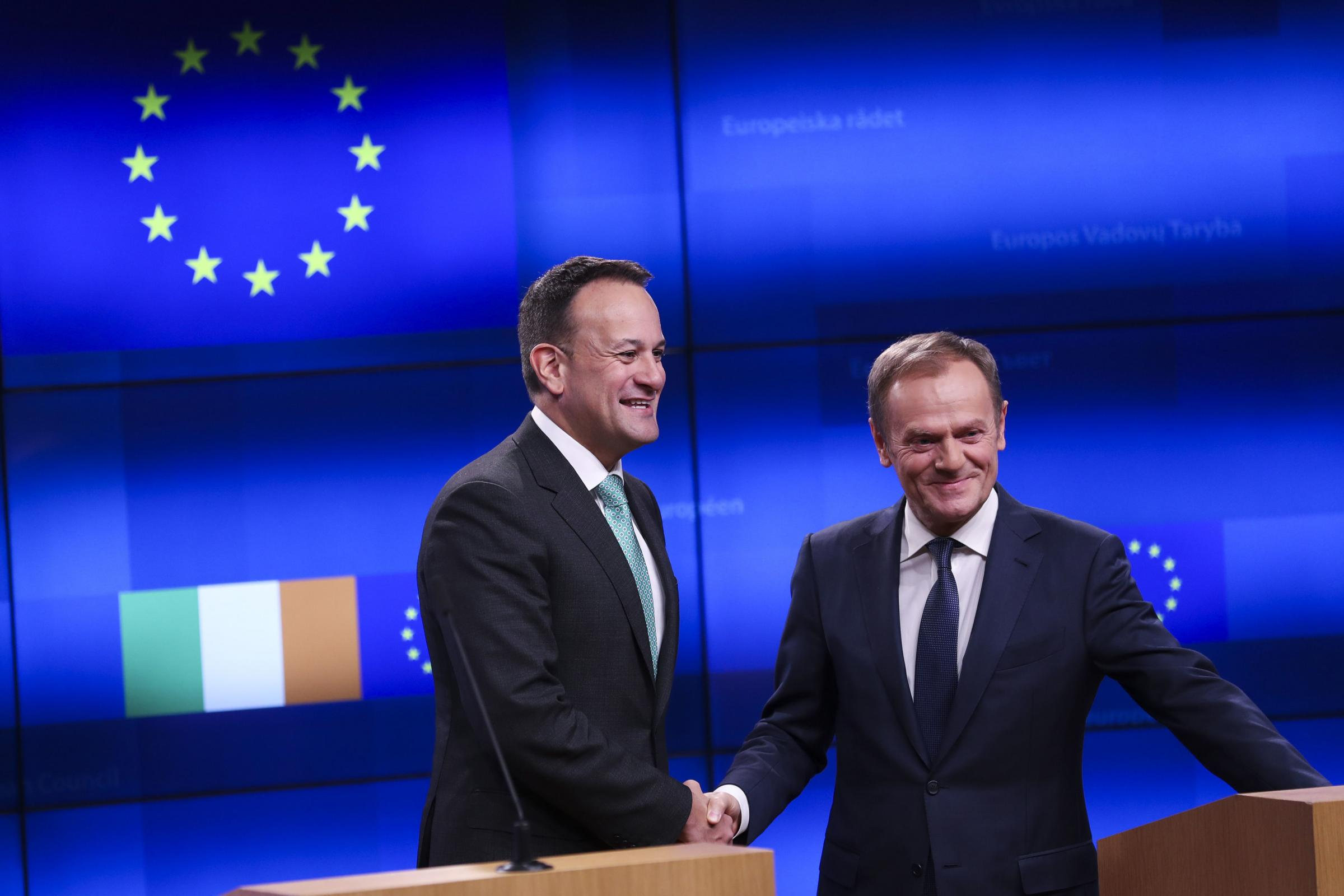 Irish premier Leo Varadkar and EU Council president Donald Tusk joined in with a collective phenomenon across Europe