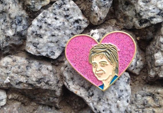 An enamel tribute to Nicola Sturgeon from the gloriously named  PindependentScotland