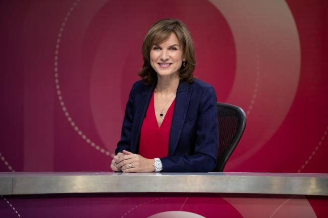 Fiona Bruce hosts this week's Question Time