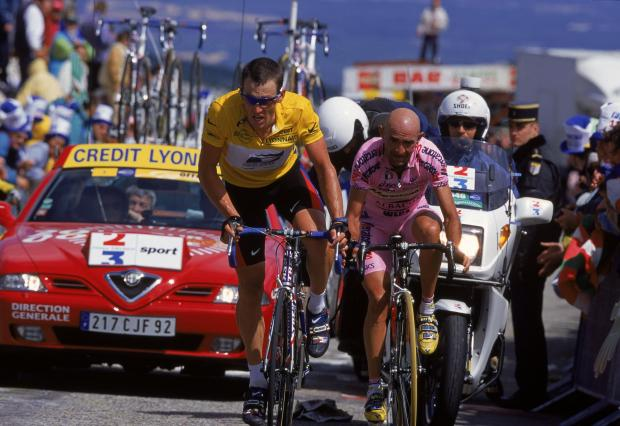 The National: Lance Armstrong during the Tour de France. Photograph: Mike Powell