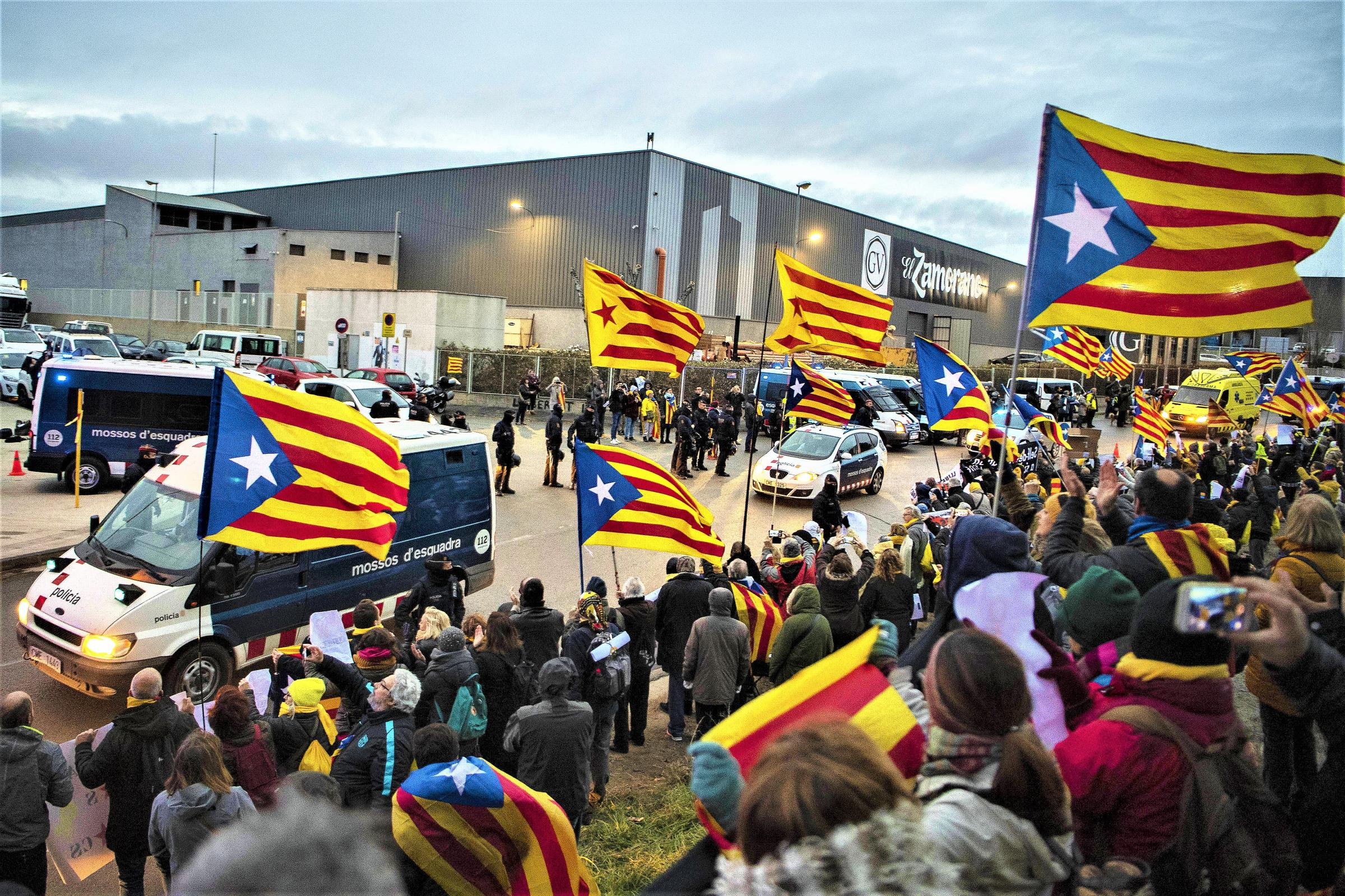 The Spanish National Police will continue to round up less well known activists for their political 'crimes'