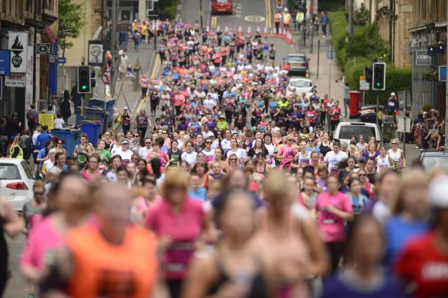 Thousands of women took part in the 2018 Great Women's Glasgow 10K run. Photograph: Jamie Simpson