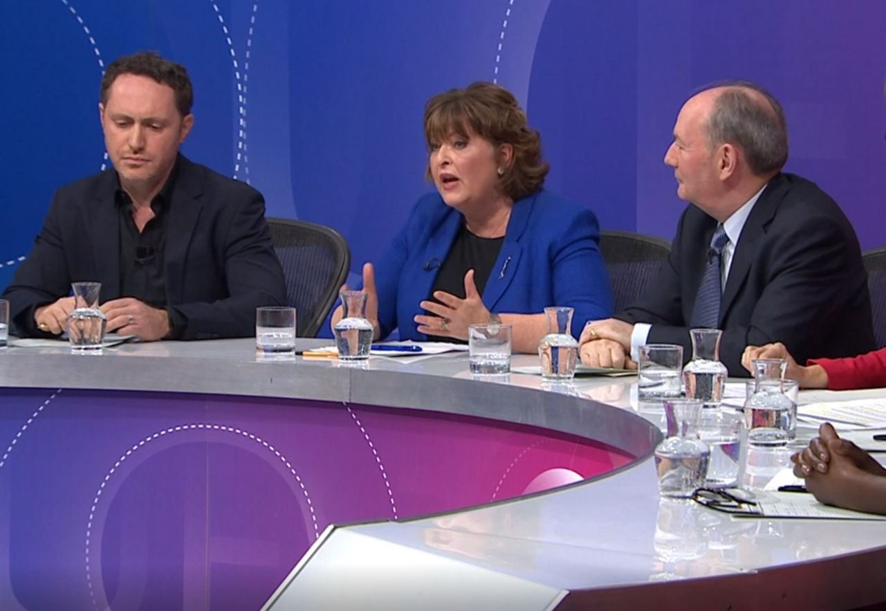 Fiona Hyslop kept up the positivity and diversity of her comments on Question Time without losing her cool and whilst enduring a hostile environment