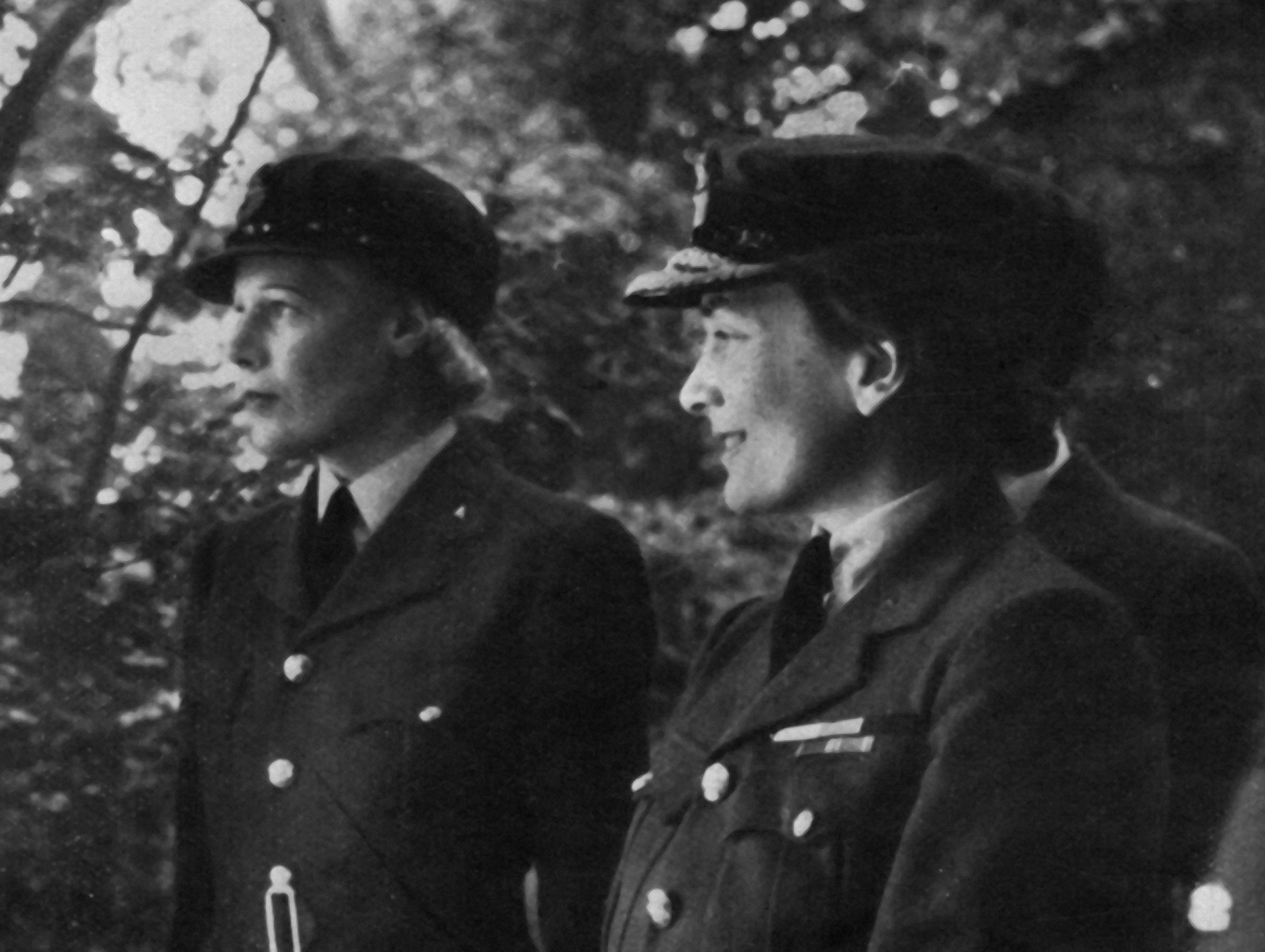 The Duchess of Gloucester, right, was appointed Senior Controller of the Women's Auxiliary Air Force in 1939