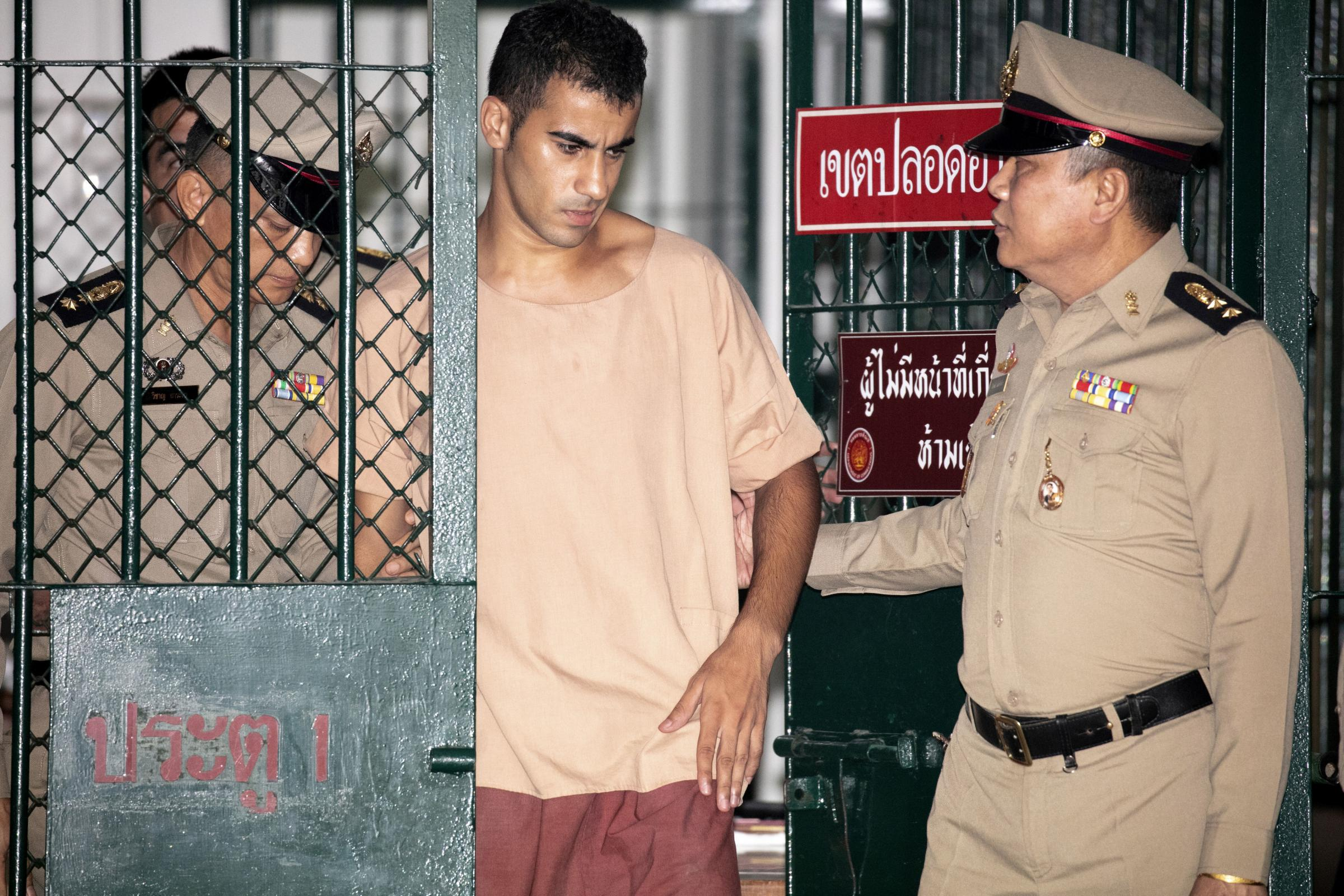 Hakeem al-Araibi was held in detention in Thailand while on his honeymoon